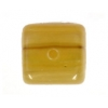 Glass Pressed Beads 8X10mm Cubes Olive